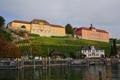 Картинка город, дома, река, Германия, фото, Meersburg