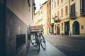 Картинка велосипед, улица, колеса