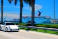 Картинка дорога, море, река, красота, 911, Porsche, tilt shift