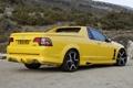 Картинка желтый, гора, вид сзади, пикап, Vauxhall, VXR8, воксхол
