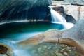Картинка Нью-Гэмпшир, Notch State Park, скалы, водопад, поток, Франкония, озеро