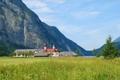 Картинка трава, деревья, горы, Германия, Бавария, луг, церковь