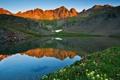 Картинка горы, пейзаж, Природа, отражение, озеро