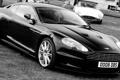 Картинка DBS, Aston, Martin, чорно белое