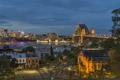 Картинка ночь, мост, огни, река, Австралия, Сидней, набережная