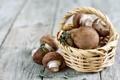 Картинка портабелло, грибы, корзинка