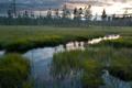 Картинка закат, пейзаж, река, поле, природа