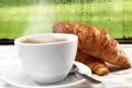 Картинка стекло, капли, дождь, кофе, завтрак, cup, coffee