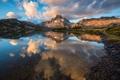 Картинка осень, деревья, природа, озеро, отражение, Канада