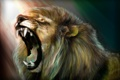 Картинка арт, рёв, лев