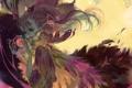 Картинка девушка, магия, крылья, аниме, перья, арт, luman