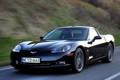Картинка машина, авто, Corvette, Chevrolet, черная, Competition