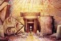 Картинка фентези, мультфильм, пещера, Тайна Келлс, The Secret of Kells, тотемы, Brendan