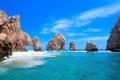 Картинка море, небо, облака, природа, скалы, арка