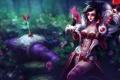 Картинка девушка, цветы, стрела, открытка, League of Legends, арбалет, LoL