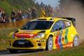 Картинка Ford, Rally, WRC, Желтый, Капот, Fiesta, Передок