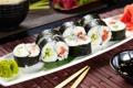 Картинка суши, роллы, васаби, начинка, нори