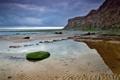 Картинка море, пейзаж, закат, природа, берег