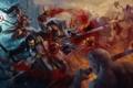Картинка оружие, арт, битва, демоны, diablo, персонажи, нежить