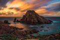 Картинка море, облака, скала, камни, берег, Австралия