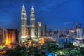 Картинка ночь, огни, Malaysia, Flying Through the Night Skies of Kuala Lumpur