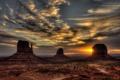 Картинка закат, пейзаж, United States, Utah, Monument Valley