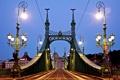 Картинка дорога, освещение, фонари, архитектура, Венгрия, Hungary, Будапешт