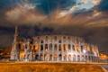Картинка небо, город, фото, Италия, развалины, Colosseum, Roma