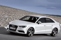Картинка Audi, Ауди, Белый, Авто, Фары, Седан, Лого