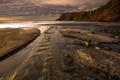 Картинка море, пейзаж, закат, берег
