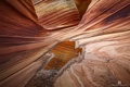 Картинка природа, каньон, скалы, лужа