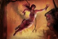 Картинка пистолет, прыжок, лук, Tomb Raider, Лара Крофт, Lara Croft