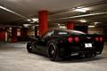 Картинка задняя часть, black, Corvette, Z06, шевроле, чёрный, Chevrolet