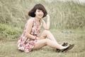Картинка азиатка, девушка, улыбка