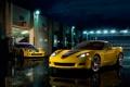 Картинка отражение, фонари, corvette, шевроле, корвет, z06, gt1