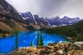 Картинка камни, Banff National Park, лес, скалы, Canada, Alberta, деревья