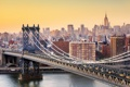 Картинка мост, дома, Нью-Йорк, США, городской пейзаж