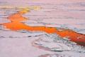 Картинка лед, вода, закат, отражение, Антарктика, полынья
