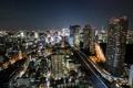 Картинка ночь, город, огни, небоскребы, Япония, Токио, Ben Torode