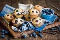 Картинка ложка, ключи, Anna Verdina, ягоды, черника, кексы, десерт