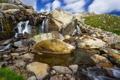Картинка природа, камни, река, водопад