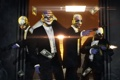 Картинка бандиты, доллары, маски, грабители, кастюмы, Pay Day 2
