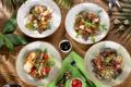 Картинка овощи, помидоры, салат, маслины, блюда, ассорти