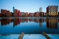 Картинка город, река, дома, утро, Бостон