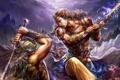 Картинка MMORPG, доспехи, Perfect world, Forsaken world, мечи, битва, оружие