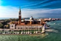 Картинка Сан-Джорджо Маджоре, Венеция, остров, церковь, Италия, гранд канал