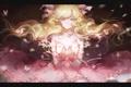 Картинка девушка, бабочки, аниме, арт, бант, слёзы, moss