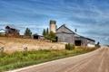 Картинка дорога, пейзаж, забор, ферма