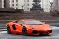Картинка Пасмурно, Передок, Оранжевый, Суперкар, Авто, Aventador, LP700-4