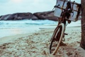 Картинка Bike, Sand, Moods, Background, Beach, Wallpaper, Sea